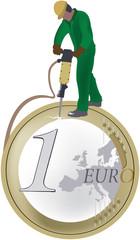 picconare l'euro