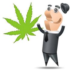 Polygone - Fond Blanc - Cannabis