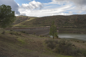 Dam in the Canary Islands
