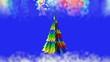 Obrazy na płótnie, fototapety, zdjęcia, fotoobrazy drukowane : A Christmas tale. Colored Christmas tree.