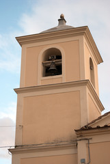 Bell tower cathedral Rufoli village