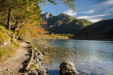 Lake in fall.Leopoldsteiner see,Styria,Austria.