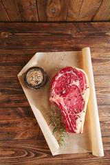 raw beef Rib bone  steak