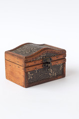 Decorative wooden box with texture