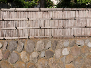 住宅の竹垣