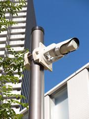 防犯用の監視カメラ