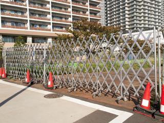 工事現場のゲート