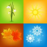 Fototapety four seasons symbols