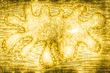gelb - goldener Farbklecks...