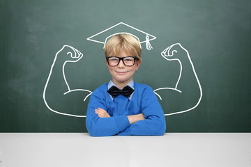 Schoolschild with Muscle