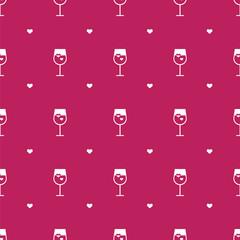 Vector flat minimalistic wine seamless pattern