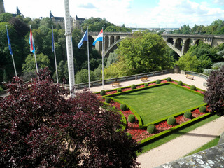 View of Adolphe Bridge, Luxembourg city, Luxembourg