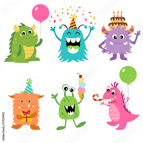 Birthday monsters - 74339631