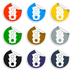 Icon, vector illustration. Set of blank stickers.