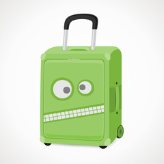 suitcase with a wicked snout