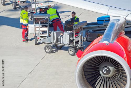 Plexiglas Luchthaven Gepäckabfertigung