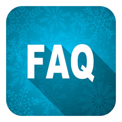 faq flat icon, christmas button