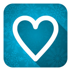 heart flat icon, christmas button, love sign