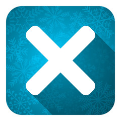 cancel flat icon, christmas button, x sign