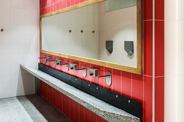 clean public washrooms interior