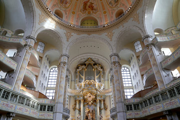 interior of the Dresden Frauenkirche(literally Church)
