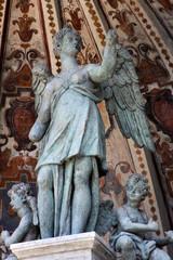 Detailed view of the Organ Fountain in Villa d'Este. Tivoli