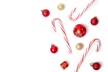 christmas candies and balls