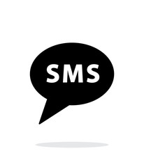 SMS message icon on white background.