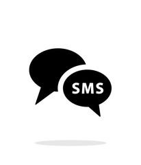 Phone dialogue icon on white background.