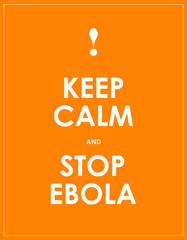 keep calm and stop ebola background