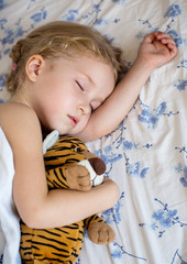 Toddler cute girl sleeping