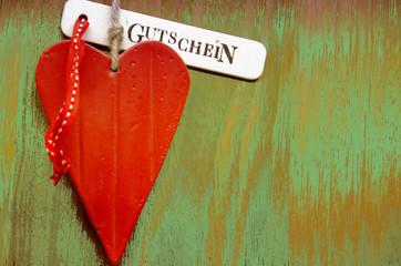 Herz auf Holz, Gutschein
