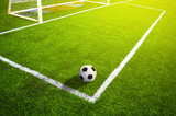 Fototapety Soccer grass field with marking and ball, Sport