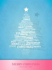 Christmas tree of Christmas words.