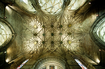 Vault of the church in Jeronimo's Monastery, Lisbon