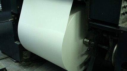 production of paper, close up