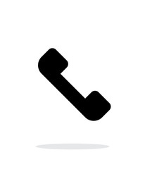 Answer the call. Telephone receiver icon on white background.