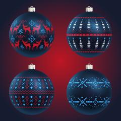 Four Christmas Balls, Big Baubles