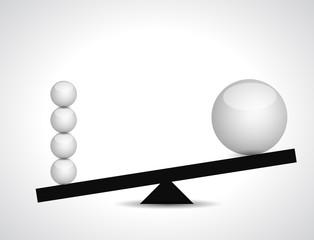 sphere balance illustration design