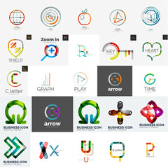 Set of branding company logo elements