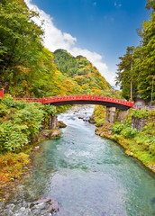 Shinkyo bridge in Nikko, Japan.
