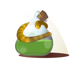 Potion Bottle with Snake