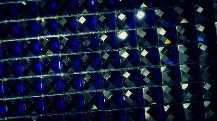 Shiny dark rhinestones. 4K UHD 2160p footage.