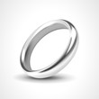 Silver Ring Isolated on White Background - 74348200
