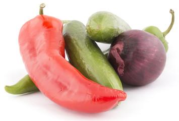 fresh vegitables isolated