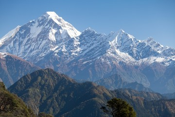 Summit of Dhaulagiri from South