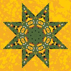 Islamic ornamental green star lace ornament