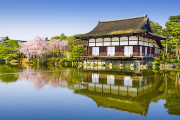 Kyoto, Japan Springtime at Heian Temple