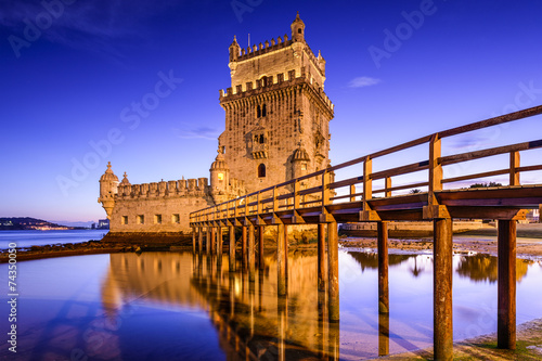 Fotobehang Vestingwerk Belem Tower of Lisbon, Portugal