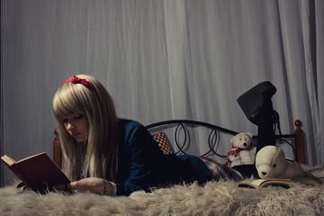 Schoolgirl in the bed